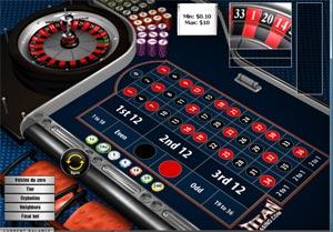 European Roulette single zero at Titan Casino