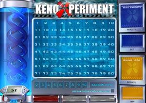 Keno Xperiment at Titan Casino