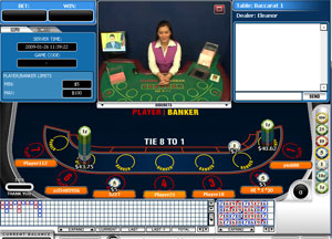 Live baccarat with a real dealer at Titan Casino