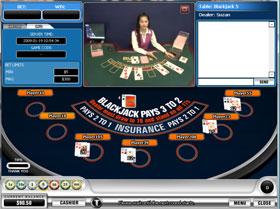 Live Blackjack at TitanCasino.com