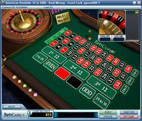 Roulette PartyCasino double zero