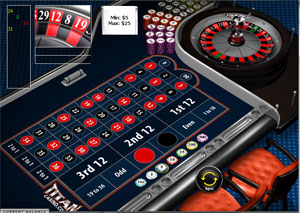 TitanCasino Roulette with double zero