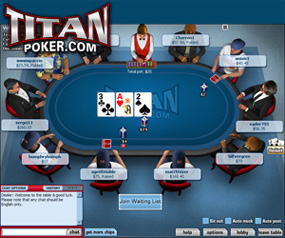 Titanpoker game play screenshot
